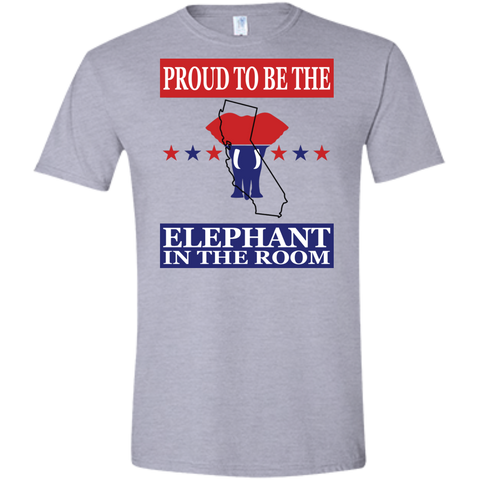 California PROUD Elephant in the Room (Fitted) Men's T-shirt