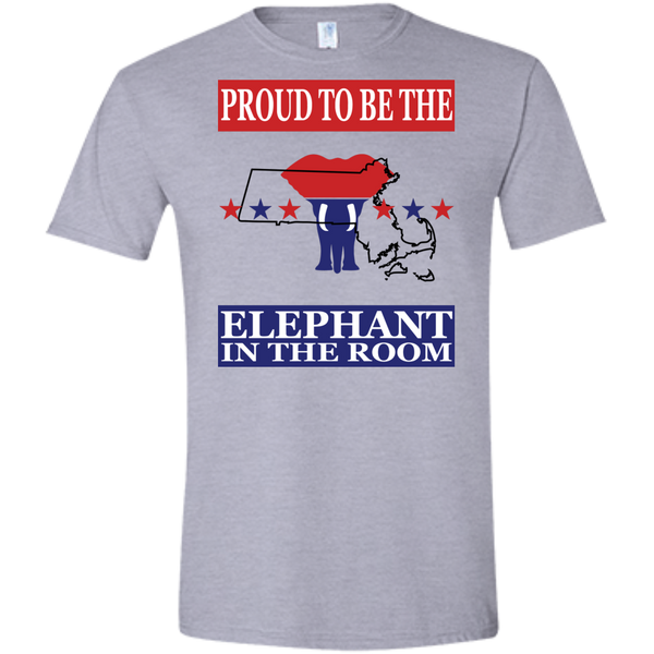 Massachusetts PROUD Elephant in the Room (Fitted) Men's T-shirt