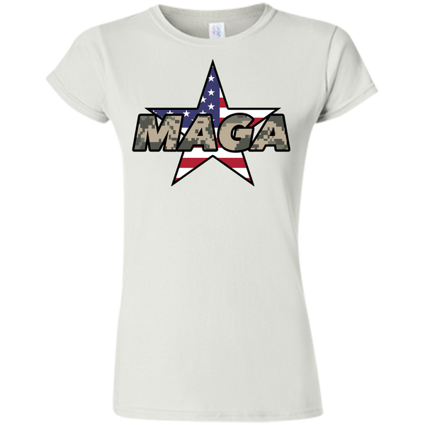 (Fitted) MAGA Camo-Desert Ladies' T-shirt