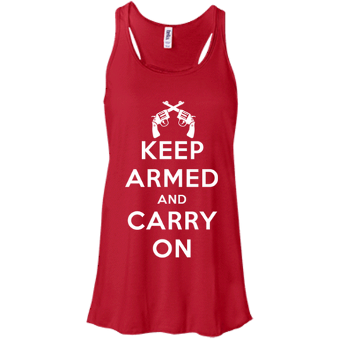 Keep Armed and Carry On Pistols (Racerback) Ladies' Tank