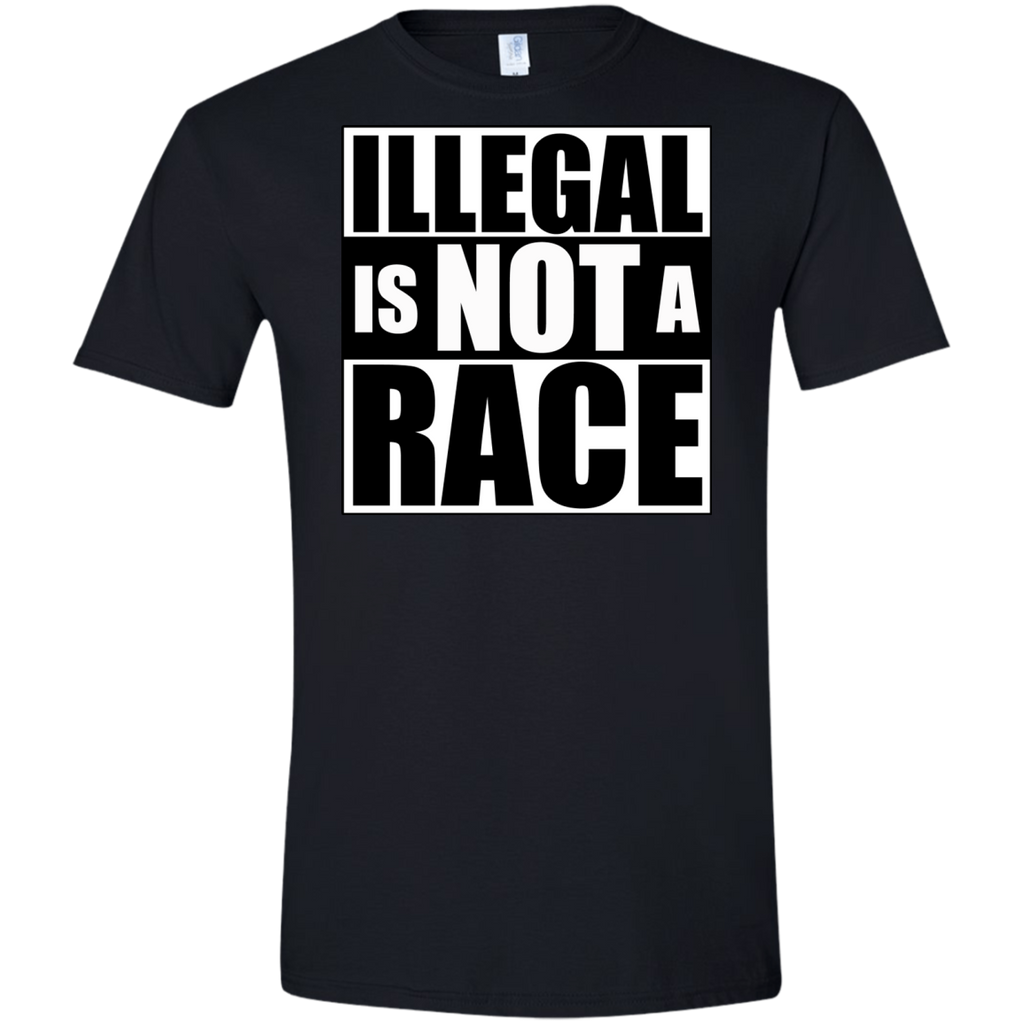 Illegal is NOT a Race (Fitted) Men's T-shirt