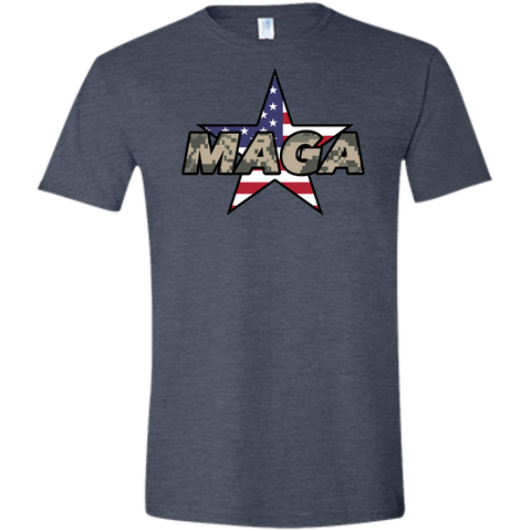 (Fitted) MAGA Camo-Desert Men's T-shirt