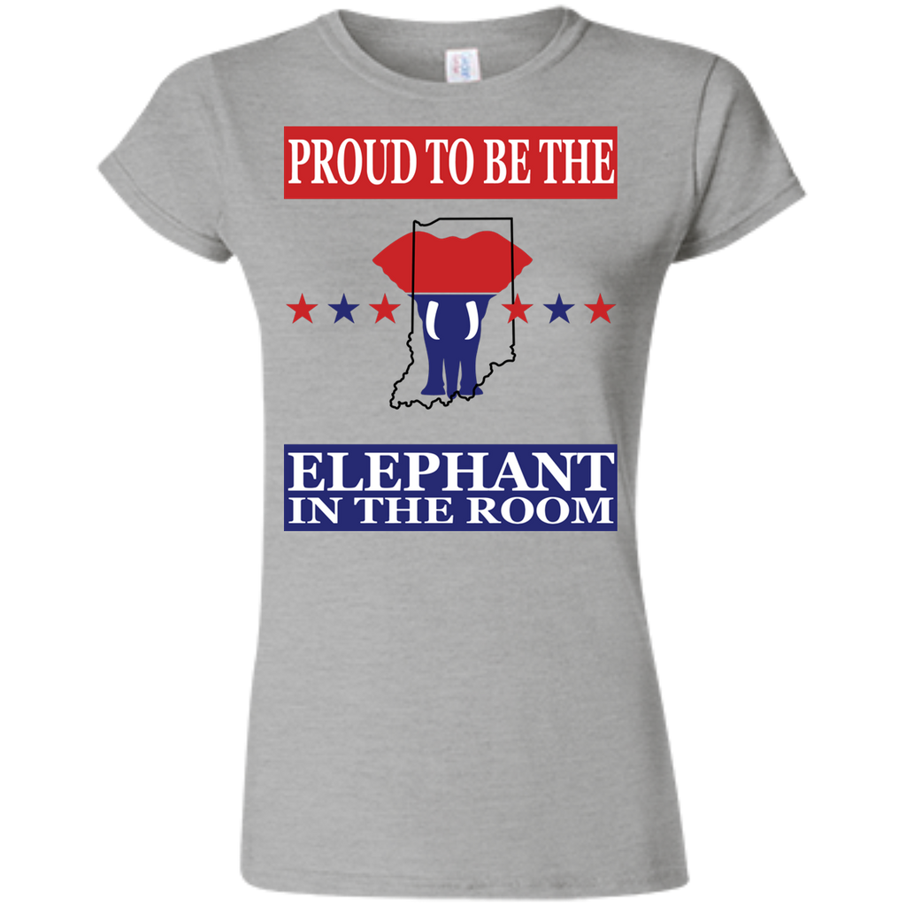 Indiana PROUD Elephant in the Room (Fitted) Ladies' T-shirt