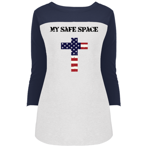 My Safe Space Ladies' Jr. 3/4 Sleeve T-Shirt