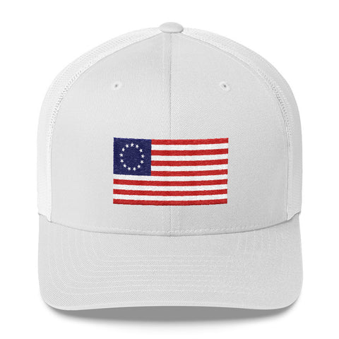 1776 USA Flag Trucker Hat