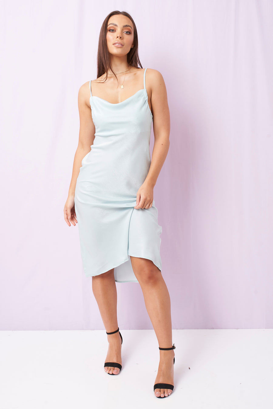 Kendall Midi Dress Sky Blue