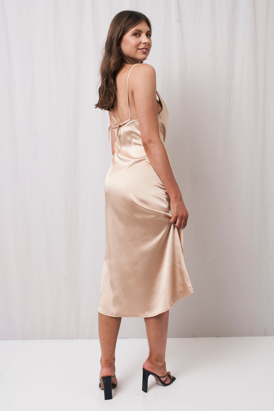 Kendall Midi Dress Champagne