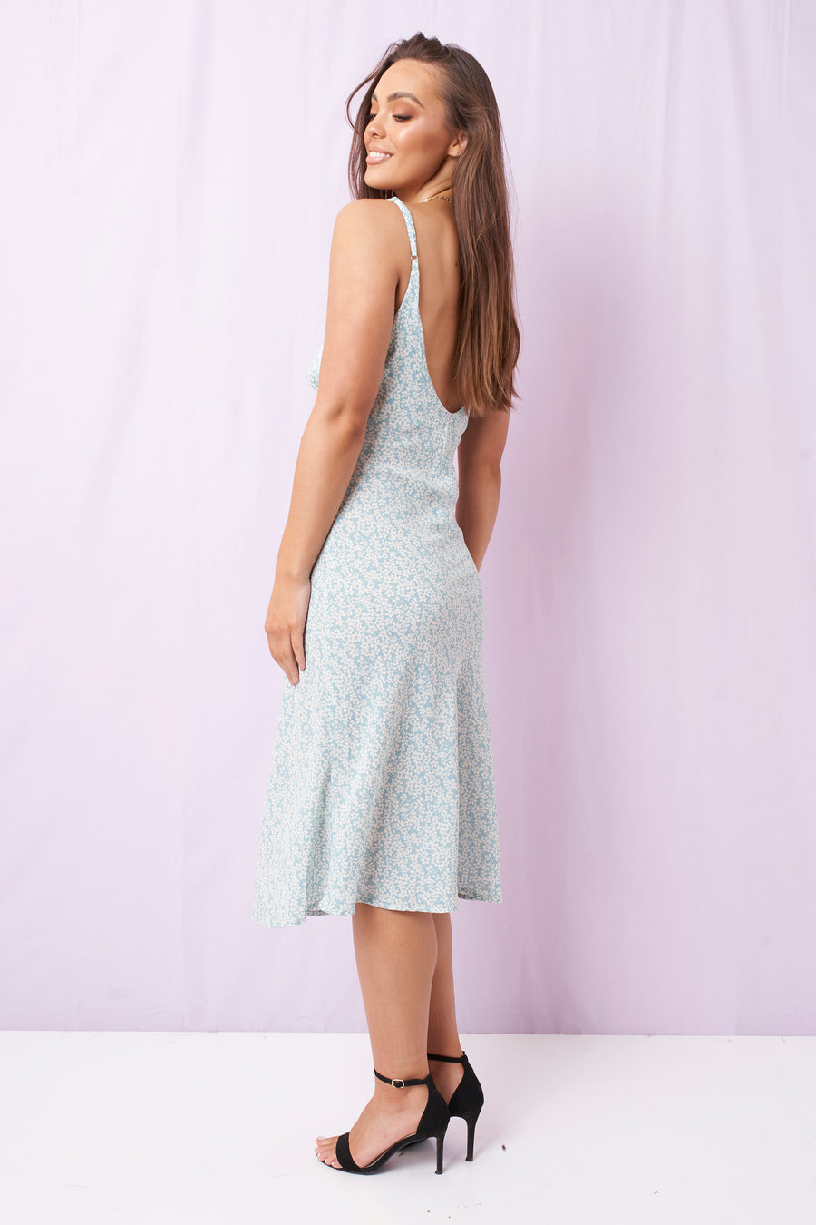 Shadow Bloom Midi Dress