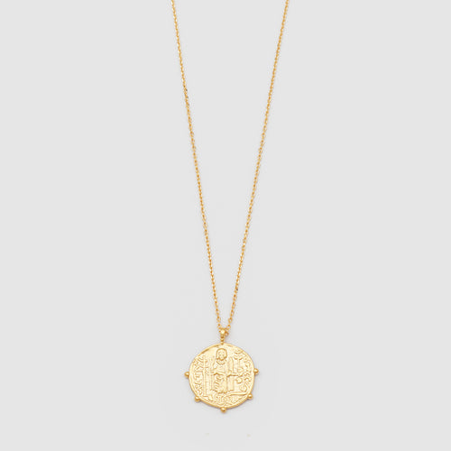 JOLIE & DEEN Aztec Coin Necklace