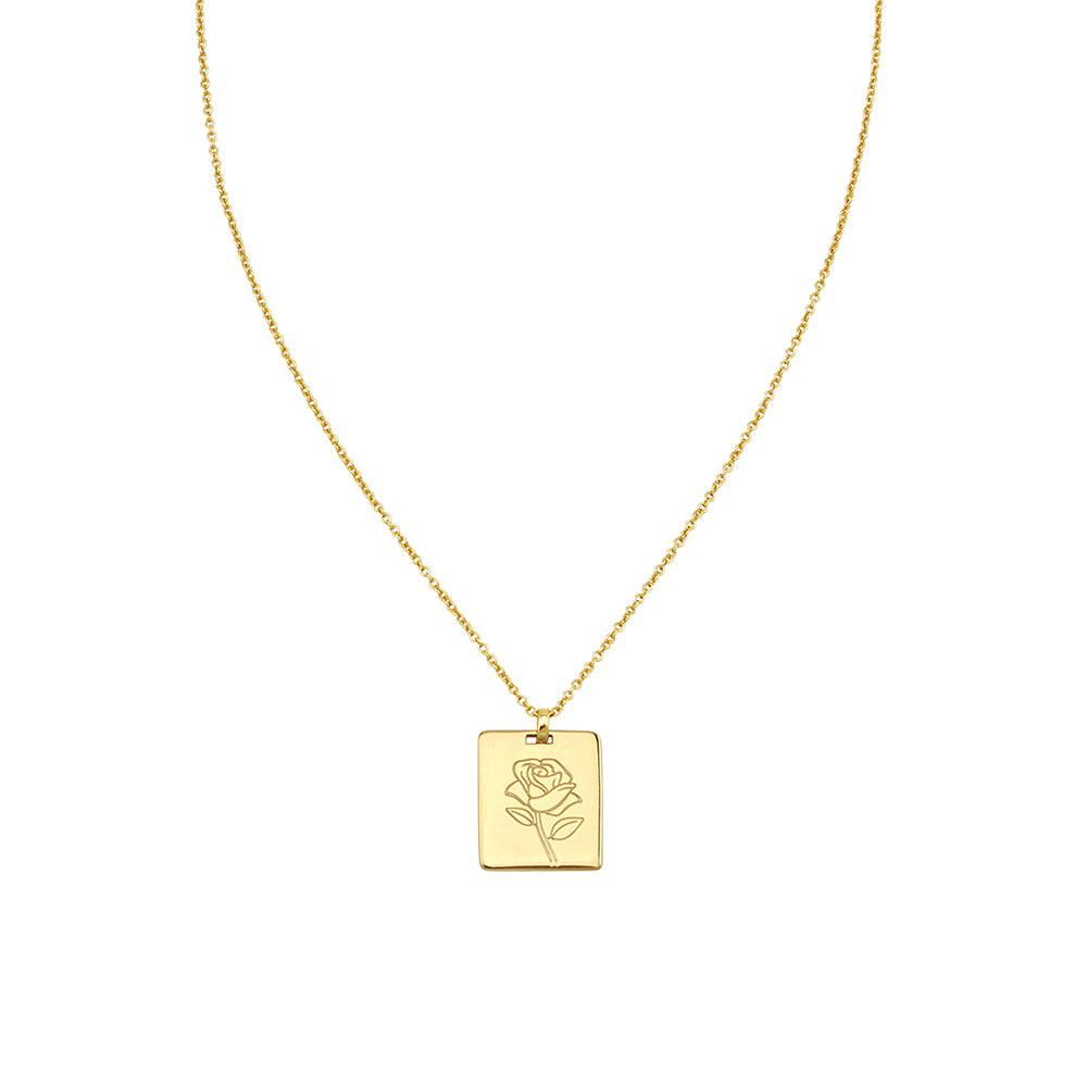 JOLIE & DEEN Rose Pendant Necklace