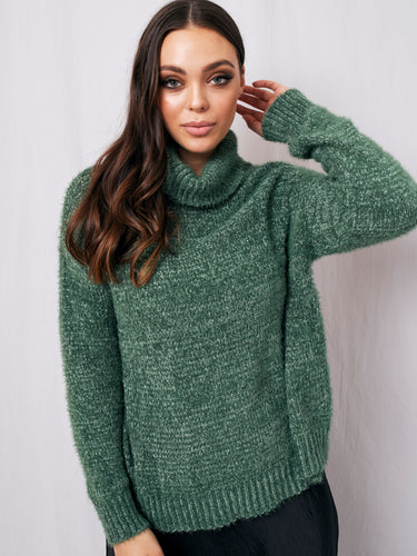 Blow Your Mind Knit -  Forest Green