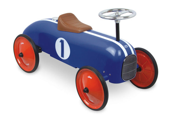 Blue Ride On Classic Car by Vilac - Riding Toys - Vilac - kidstoyswarehouse