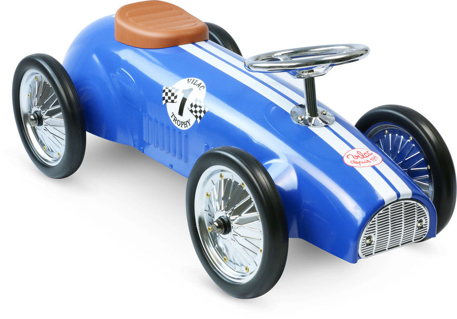 Blue Racing Ride On Car by Vilac - Riding Toys - Vilac - kidstoyswarehouse