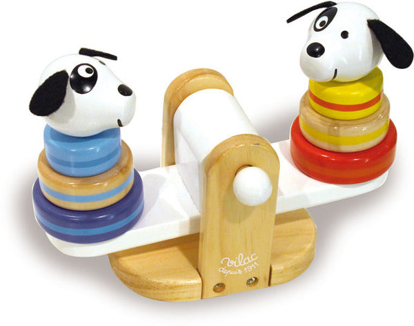 Sea-Saw Stacking Dogs by Vilac