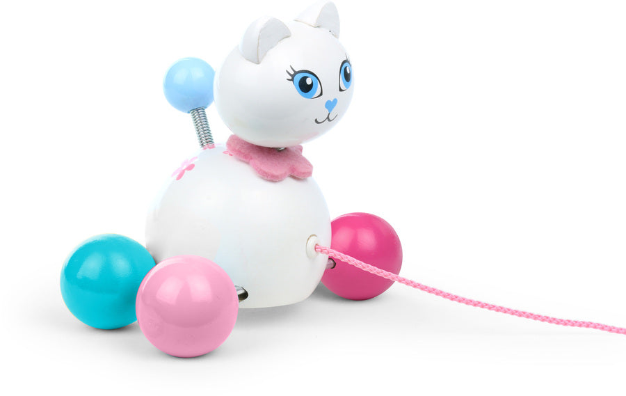 Cathy the Cat Pull Along Toy - Push and Pull - Vilac - kidstoyswarehouse