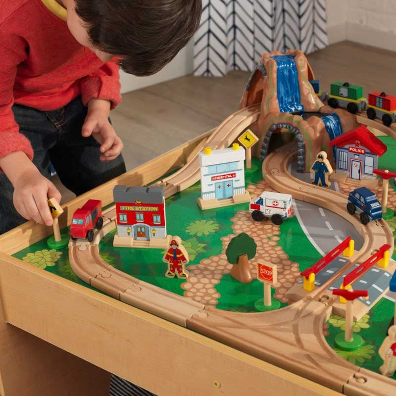 Waterfall Mountain Train Set & Table by KidKraft