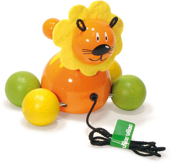 Baby Lion Pull Toy by Vilac - Push and Pull - Vilac - kidstoyswarehouse