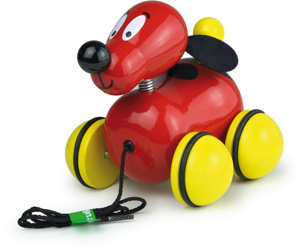 Fripoulle The Pull Along Dog by Vilac - Push and Pull - Vilac - kidstoyswarehouse