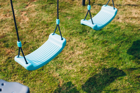 Image of Premium Metal Double Swing & Glider with Mist by Plum Play