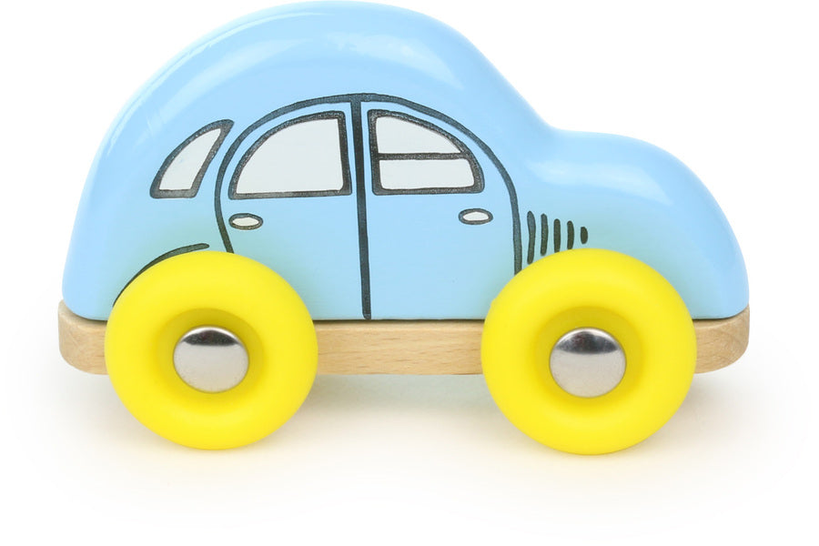 Blue Wooden Mini 2 CV Toy Car - Roleplay - Vilac - kidstoyswarehouse
