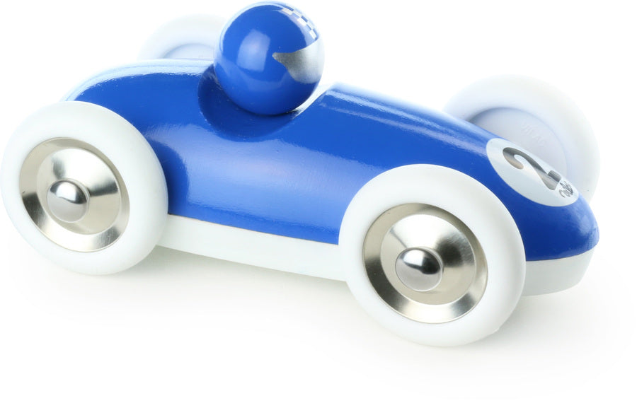 Blue Roadster Wooden Toy Car - Toy Vehicles - Vilac - kidstoyswarehouse