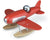 Red Toy Wooden Seaplane