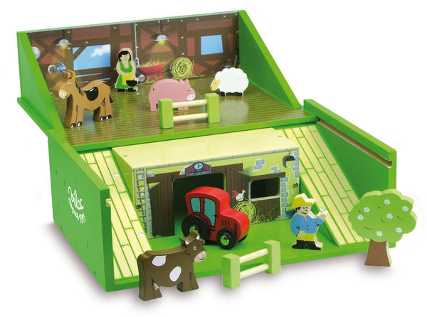 Farm Set in Suitcase by Vilac - Playsets & Playscapes - Vilac - kidstoyswarehouse