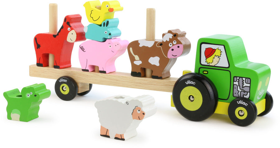Stacking Tractor with Animals Play Set