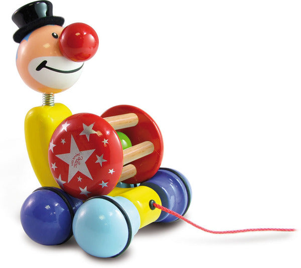 Grantoon The Clown Pull Toy by Vilac - Push and Pull - Vilac - kidstoyswarehouse