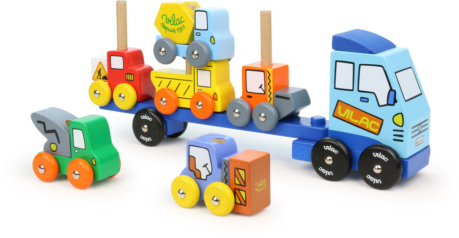 Road Construction Tractor & Trailer Stacking Games