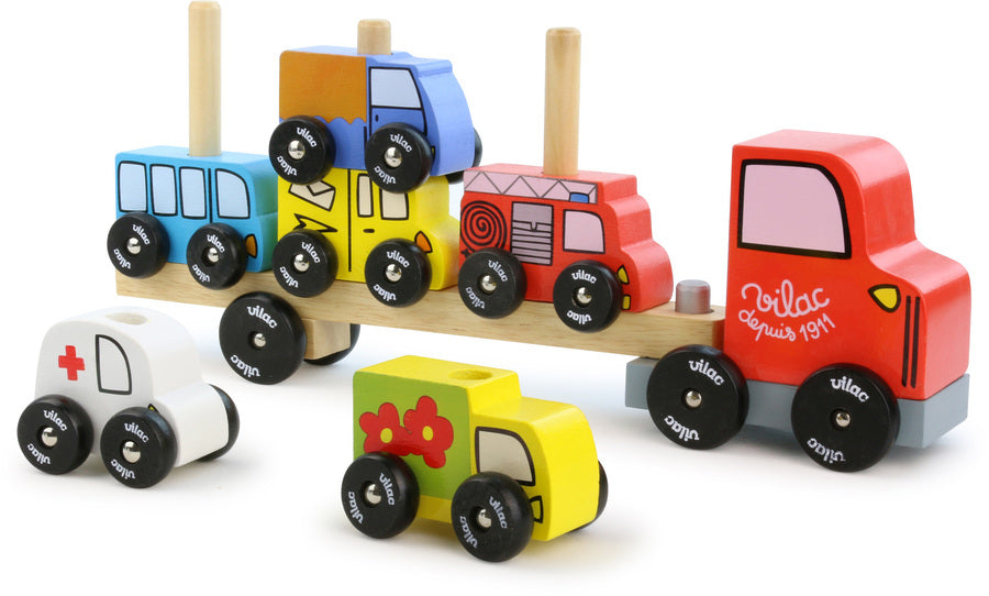 Truck & Trailer with Cars Stacking Game