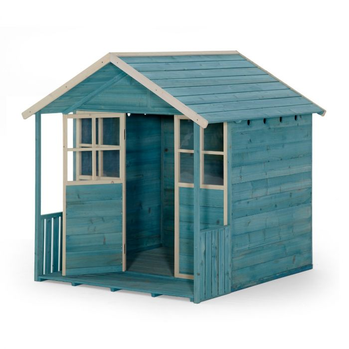Deckhouse Wooden Playhouse - Teal by PlumPlay