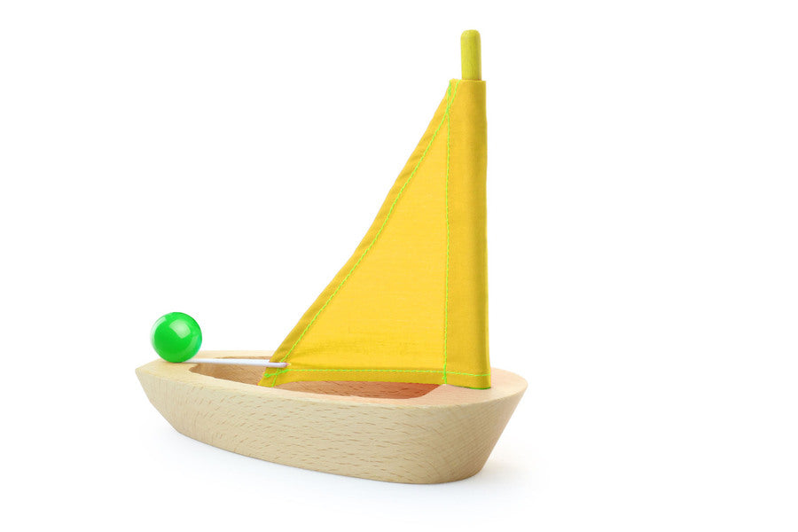 Natural Wooden Sailing Boat by Vilac