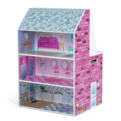 2-in-1 Dollhouse and Kitchen by Plum Play