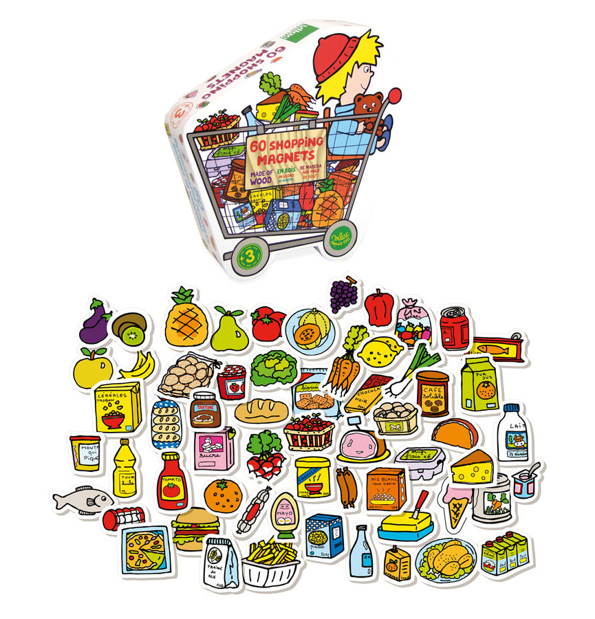 Grocery Store Kids Magnet Set - Puzzles - Vilac - kidstoyswarehouse