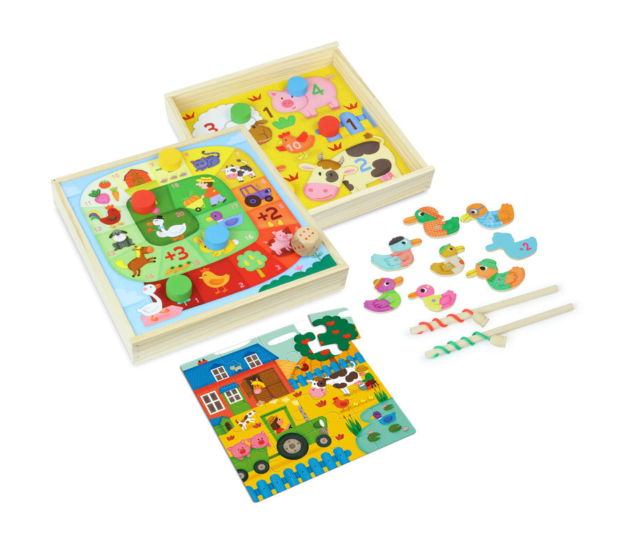 Farm Tiny Tots Game Set - Puzzles - Vilac - kidstoyswarehouse