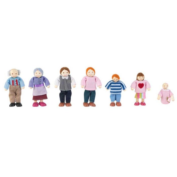 Doll Family of 7 - Caucasian by KidKraft