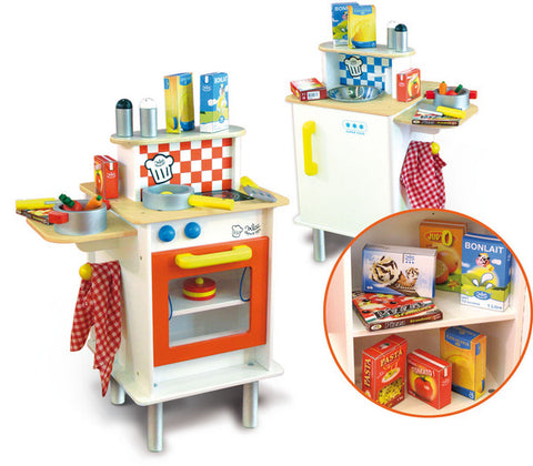 Double Sided Large Kids Kitchen with Accessories - Kitchens & Accessories - Vilac - kidstoyswarehouse