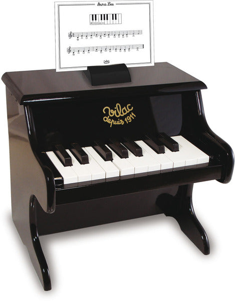 Black Piano with Scores by Vilac - Musical Toys - Vilac - kidstoyswarehouse