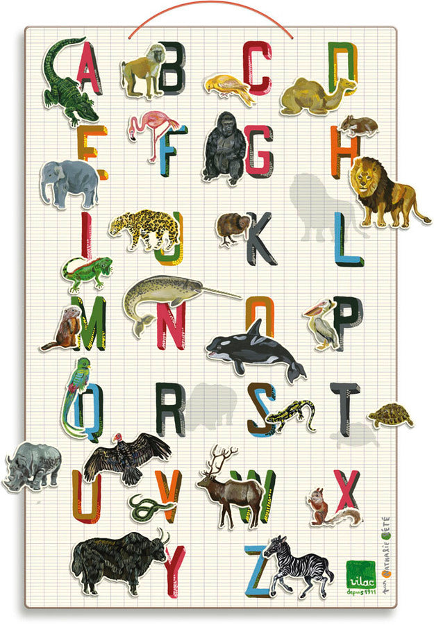 ABC Magnetic Board by Nathalie Lete - Puzzles - Vilac - kidstoyswarehouse
