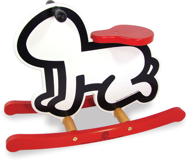 Keith Haring White Rocker by Vilac