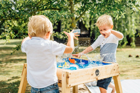 Build and Splash Wooden Sand and Water Table by Plum Play