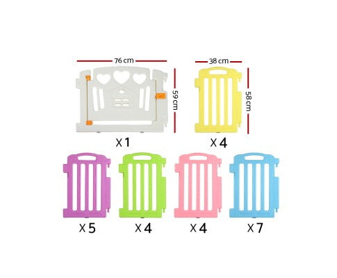 Cuddly Baby 25-Panel Plastic Baby Playpen Kids Toddler Fence
