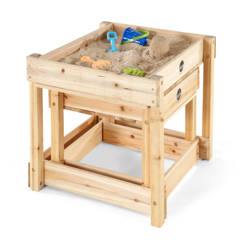 Sand and Water Wooden Tables (Natural) by Plum Play
