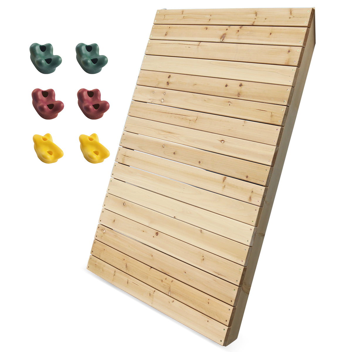 Lifespan Kids Childrens Climbing Wall 130cm x 100cm with 2x Climbing Rock Pack