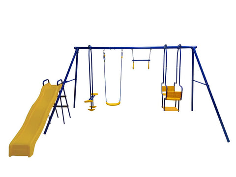 Plum 5 in 1 Unit Metal Swing Set