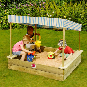 Palm Beach Wooden Sand Pit and Canopy by Plum Play