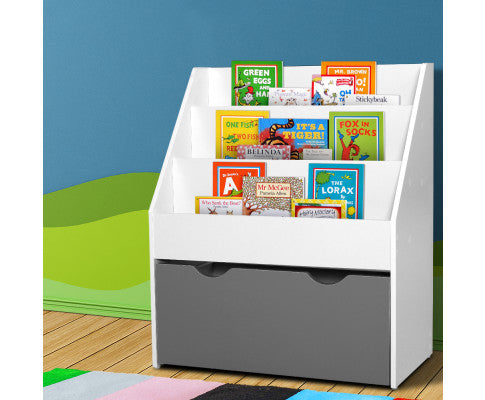 Keezi Kids Wooden Bookshelf - White