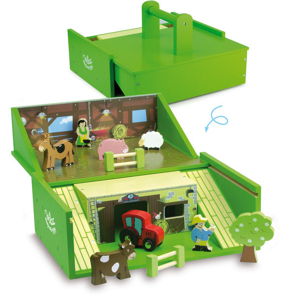 Farm Set in Suitcase by Vilac