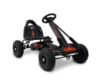 Rigo Kids Pedal Go Kart Black SPEEDY with Free Customized Plate